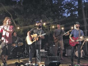 Local band plays on