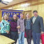 West Stokes student receives the King Rotary Club Good Citizen of the Quarter Award
