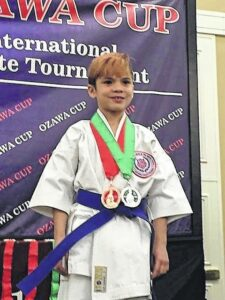 Mathis competes in international competition