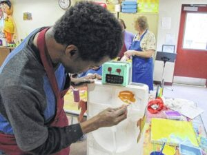 Monarch hosts art programming workshop at Stokes Opportunity Center