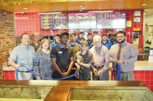 Chamber holds ribbon cutting at Zaxby's