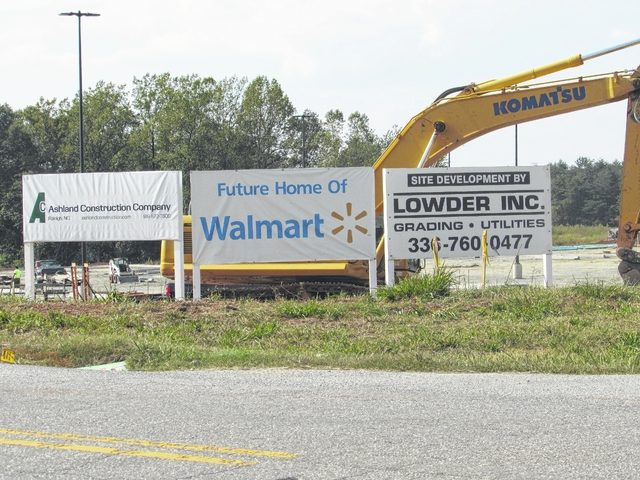 the stokes news king walmart build on schedule