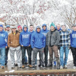 Snow doesn't stop Knights from giving back