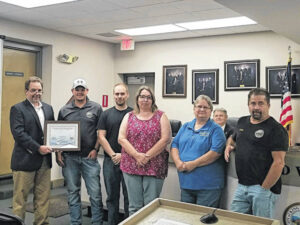 City of King Water Treatment Plant recognized at monthly meeting